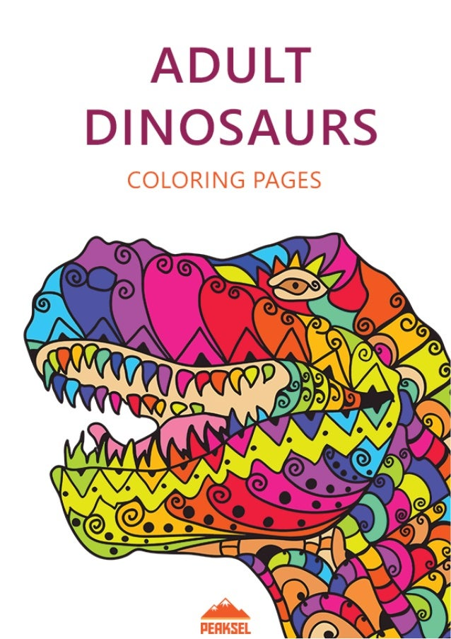 Dinosaur Coloring Pages For Adults Free Printable Coloring Book