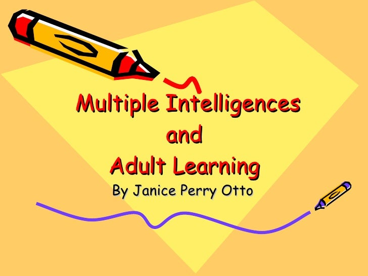 Has come multiple intelligence test for adult topic