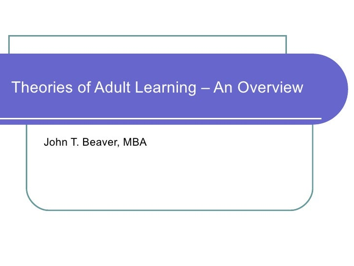 3.3 Leading adult learners: preparing future leaders and ...