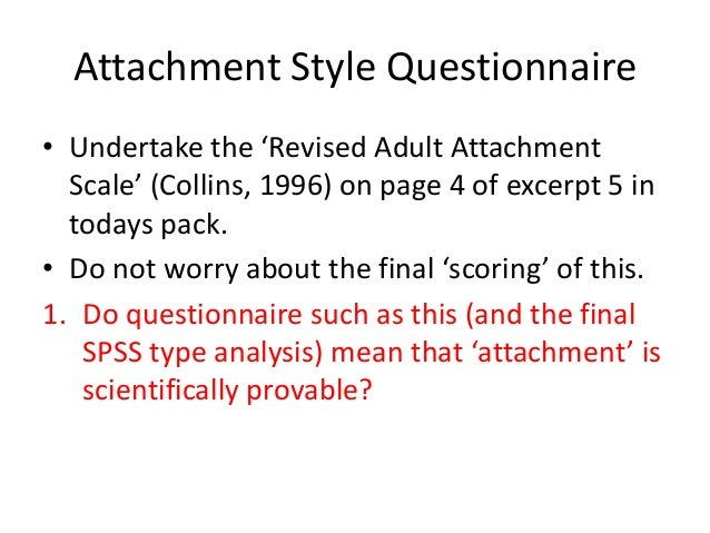 Adult attachment style quiz