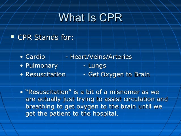Adult cpr &