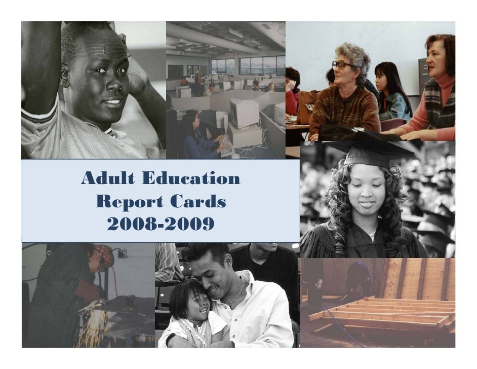 Adult Education  Report Cards   2008-2009                       1