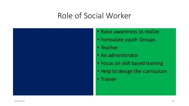 social worker roles in the community They will become familiar with, and refer clients to, community resources social  workers address legal issues, such as assisting with hearings and providing.