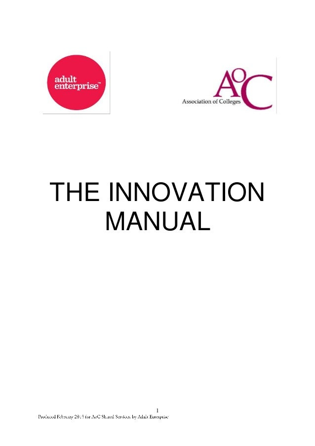 Adult Enterprise Innovation Manual