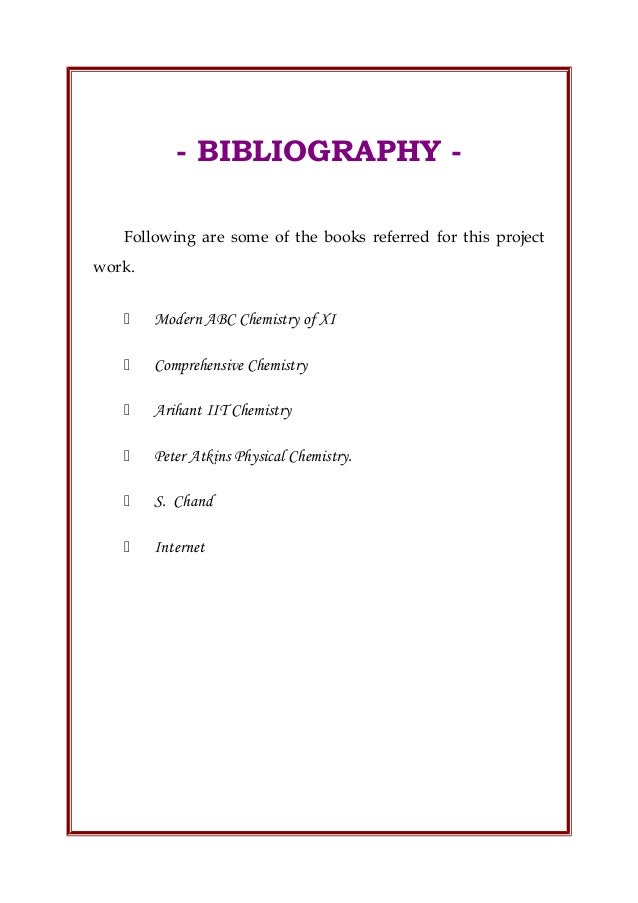 To write a bibliography
