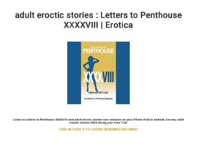 Adult erotic letter