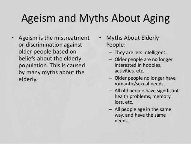 Myths about older adults and sexuality