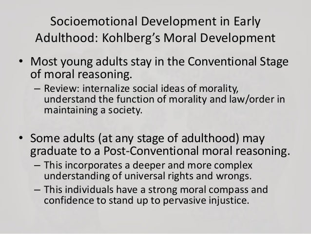 moral development on early adulthood