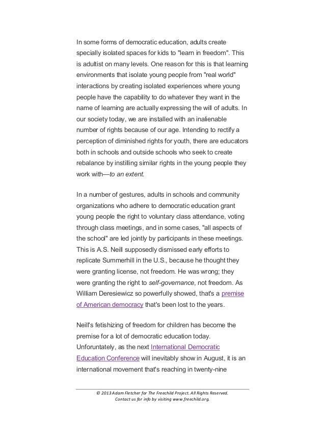 Adultism in Democratic Education by Adam Fletcher Slide 3