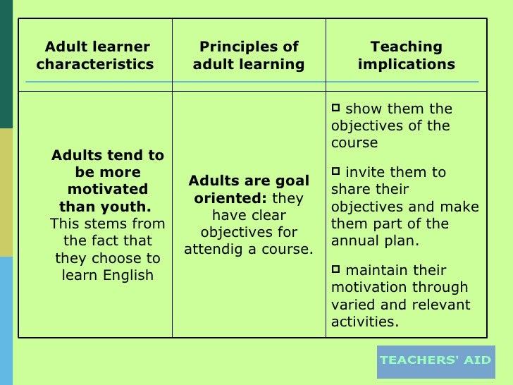 Adult learner teaching