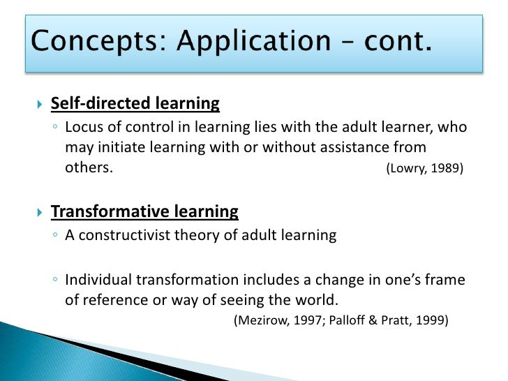 adult learning theory applications to non traditional Full-text (pdf) | as the usa experiences rapid growth of nontraditional adult students in higher education, educators and institutions will increasingly need to look beyond the traditional.