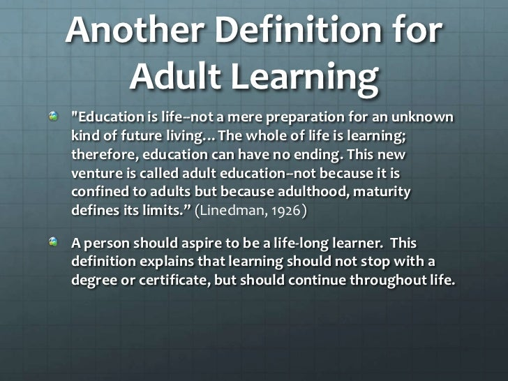 Definition of adult learning, home meade fuck videos