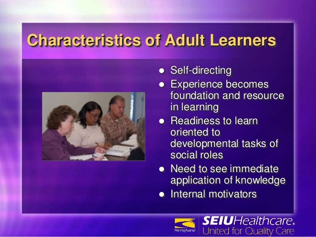 10 characteristics of adults as learners
