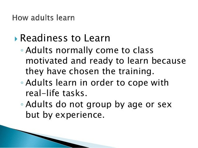 Adult learning styles course