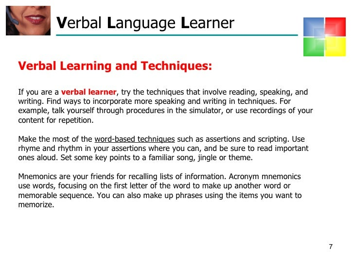 learning styles presentation Read about different presentation speeds and see if the fast-paced lessig style is suited to you and your audience.