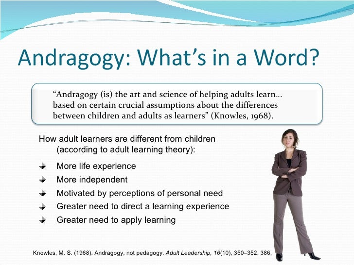 Adult learning theory principles and practice