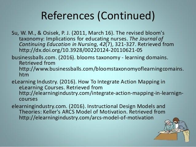 blooms taxonomy in nursing education