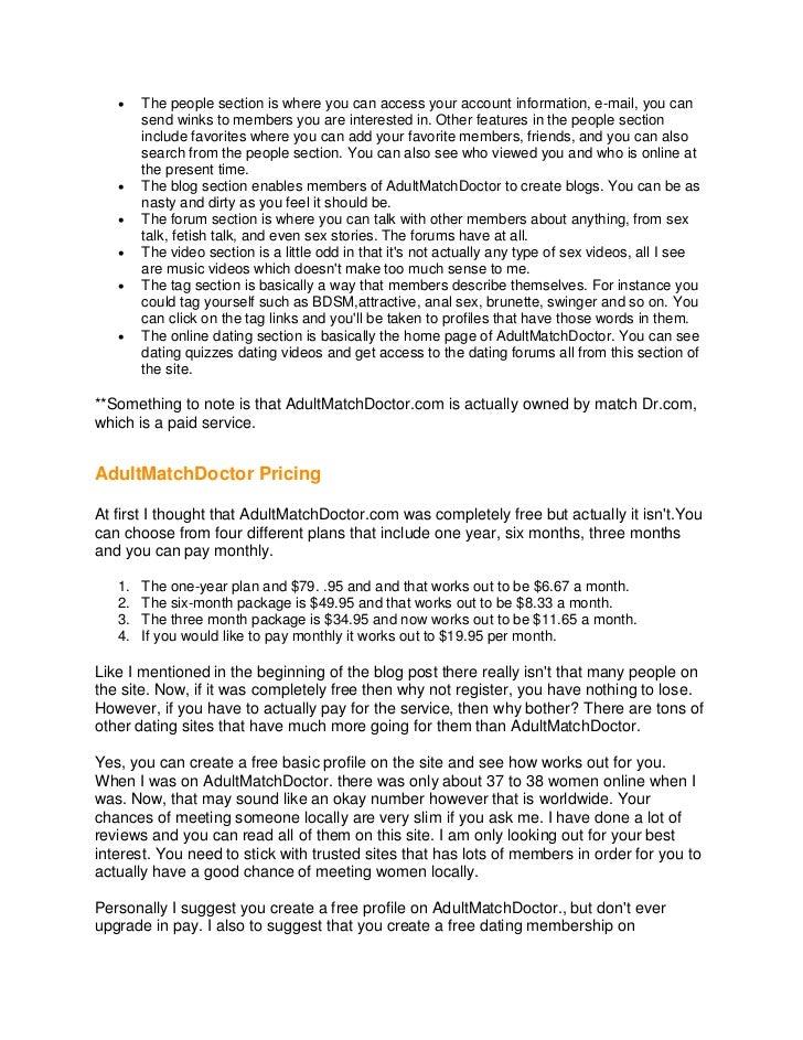 AdultMatchDoctor Review Slide 2