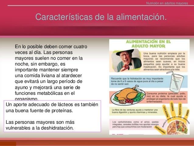 atencion nutricional en el Adulto mayor