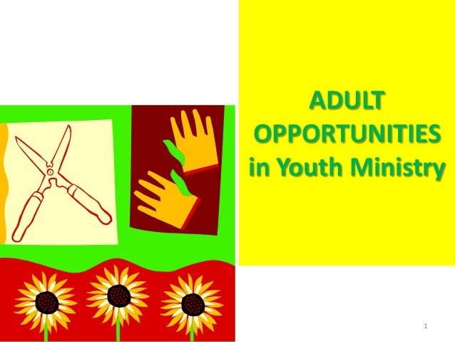 ADULT OPPORTUNITIES in Youth Ministry  1
