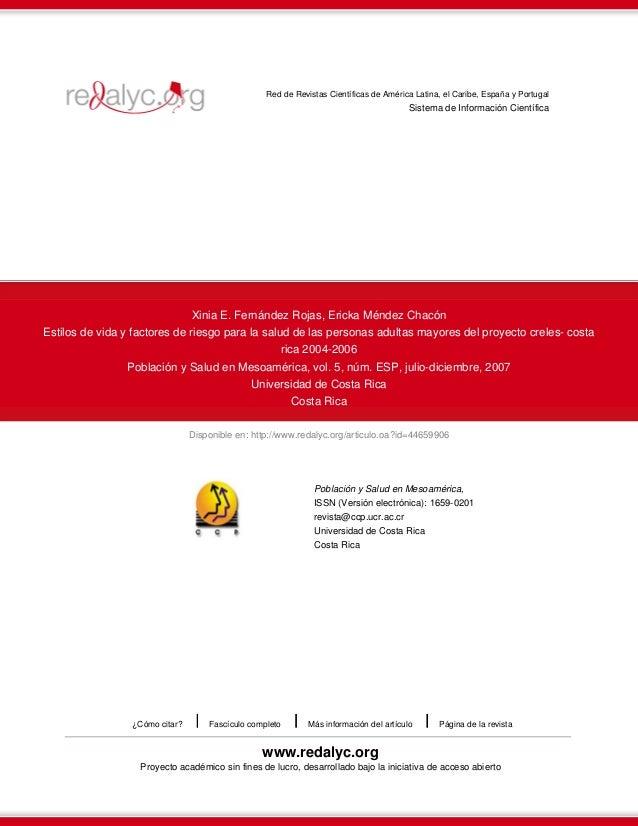 Disponible en: http://www.redalyc.org/articulo.oa?id=44659906 Red de Revistas Científicas de América Latina, el Caribe, Es...
