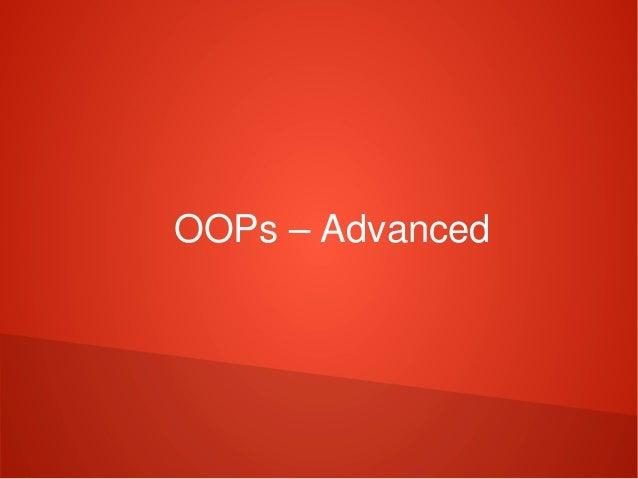 OOPs–Advanced
