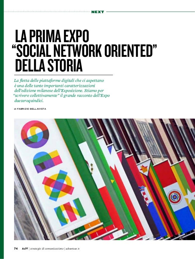 "74 AdV | strategie di comunicazione | advertiser.it  next  La prima Expo  ""social network oriented""  della storia  La flot..."