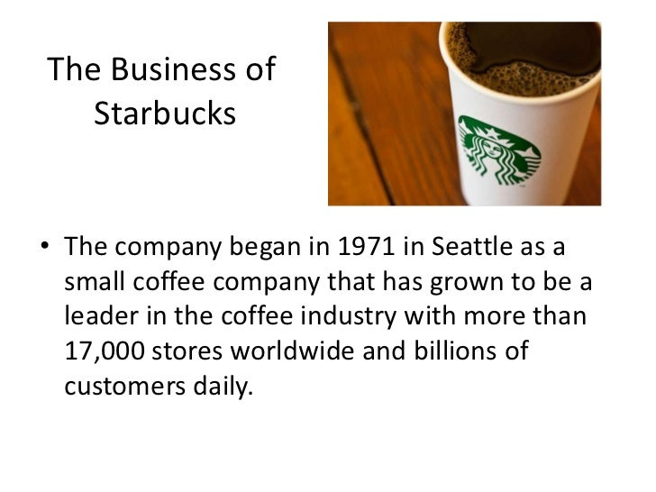 starbucks business proposal Because of its good products, superior customer service, and comfortable  environment, starbucks is a global success but is starbucks a.