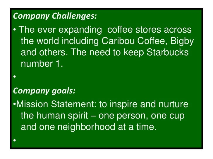 the corporate mission and business strategy starbucks coffee Starbucks mission statement promotes ideas  starbucks coffee company, starbucks marketing strategy,  and affected by the business, starbucks and its partners.