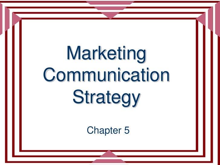 Adv 435 ch 5 strategy