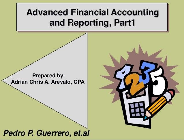 advanced accounting 2 guerrero 2013 solution manual pdf