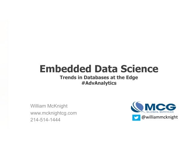 ADV Slides: Embedded Data Science – Trends in Databases at the Edge