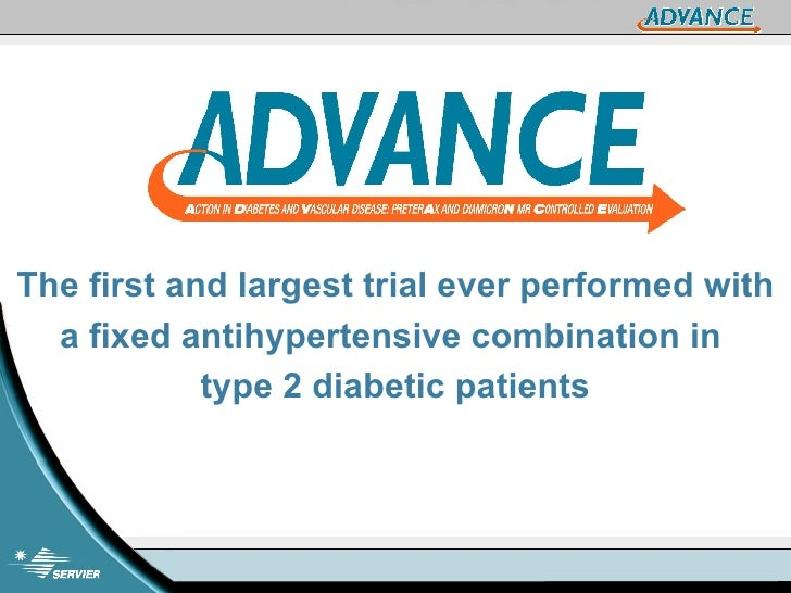 The first and largest trial ever performed with a fixed antihypertensive combination in  type 2 diabetic patients