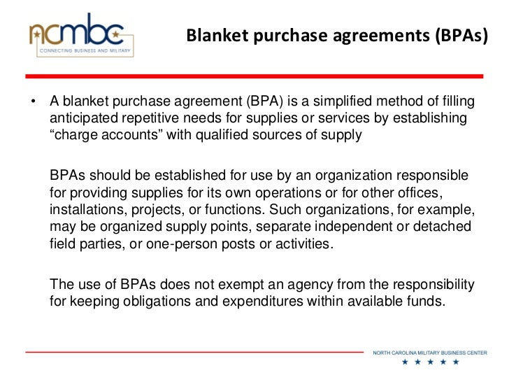Blanket Purchase Agreements Dms Purchase Order Template Overview Of