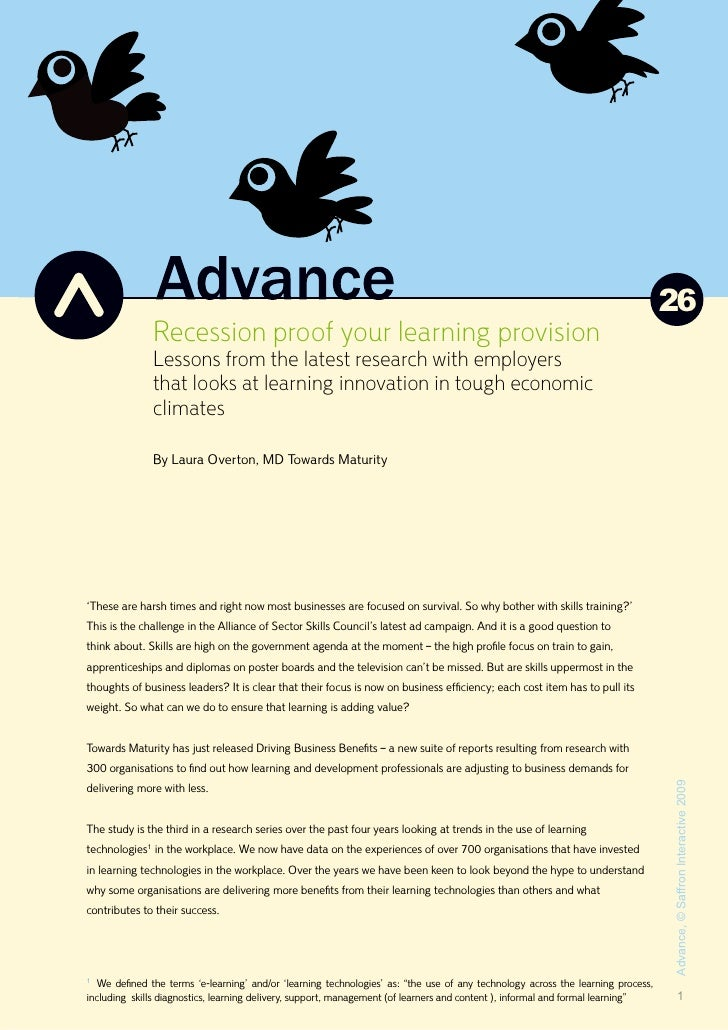 26               Recession proof your learning provision               Lessons from the latest research with employers    ...