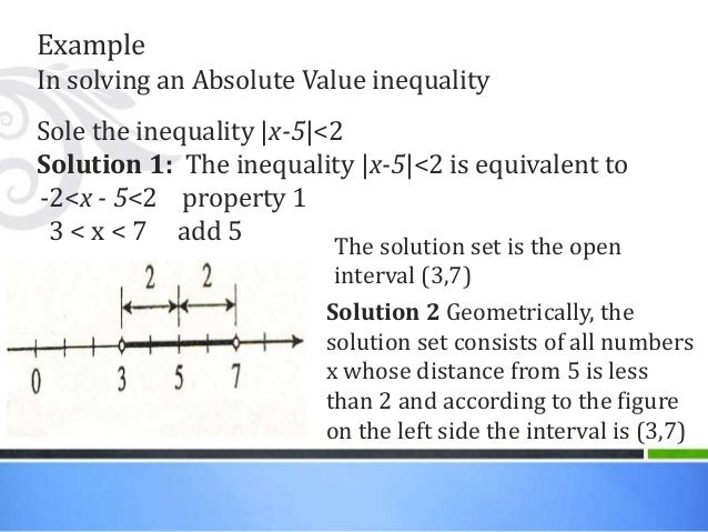 How to write an absolute value inequality statement