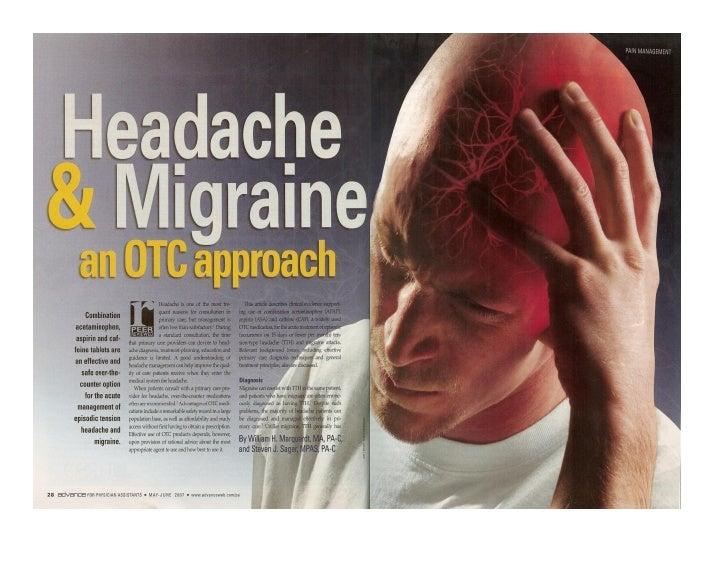 Advance for PAs Headache Article