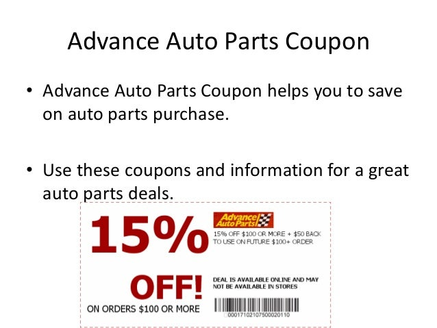 Advance auto parts discount coupons