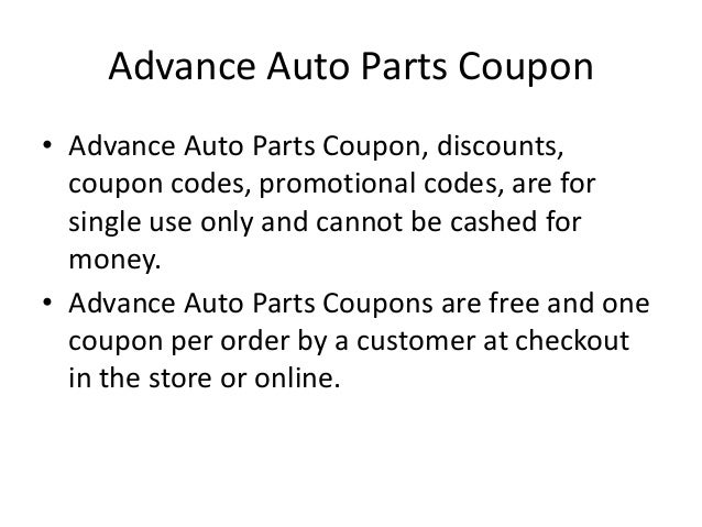 Cds parts coupons