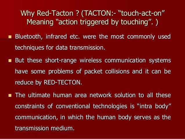 advanced communication through flesh redtacton ppt