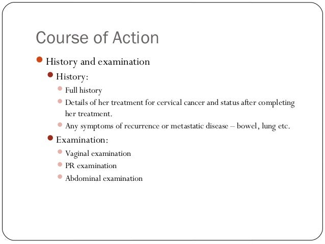 Advanced cervical cancer and renal failure