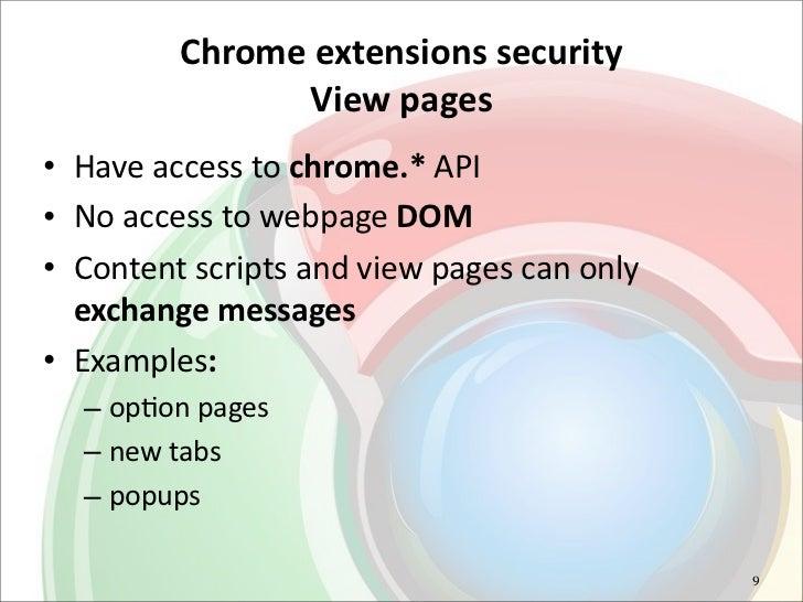 Advanced Chrome extension exploitation