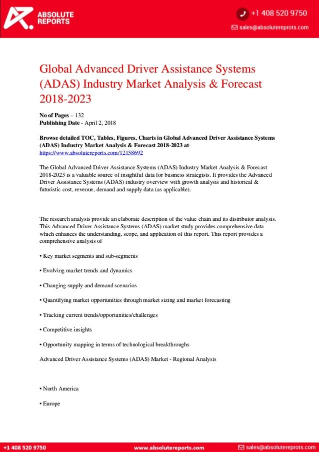 Advanced Driver Assistance Systems  Adas  Market Demand Is
