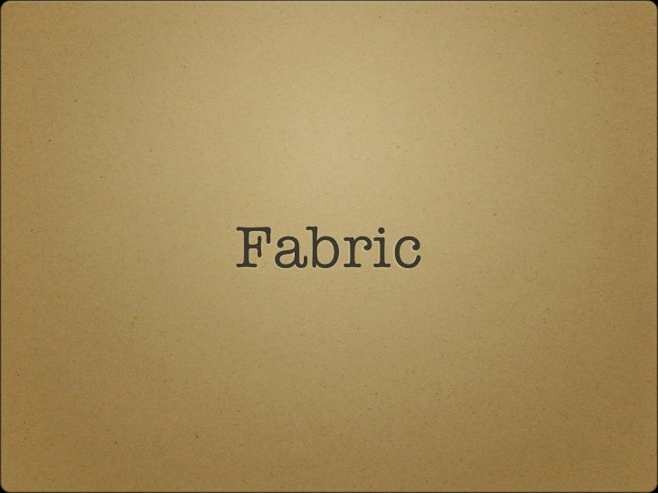 """Simple examples# fabfile.pyfrom fabric.api import rundef clear_cache():  run(echo """"flush_all"""" 