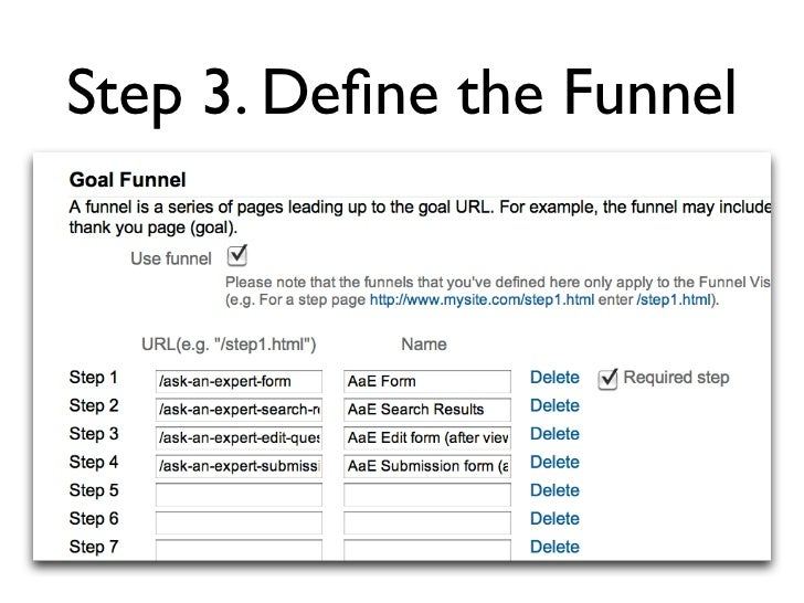 Step 3. Define the Funnel