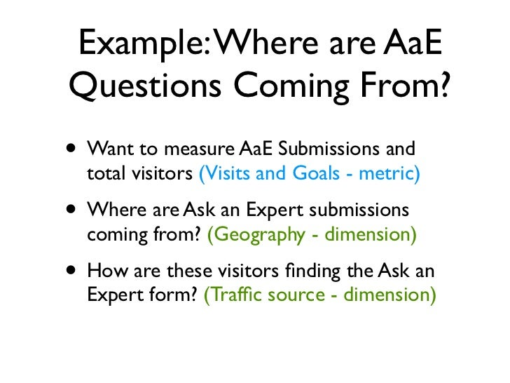 Step 1. Select Metrics• We are choosing metrics related to AaE Goals• Drag and arrange in any order you prefer