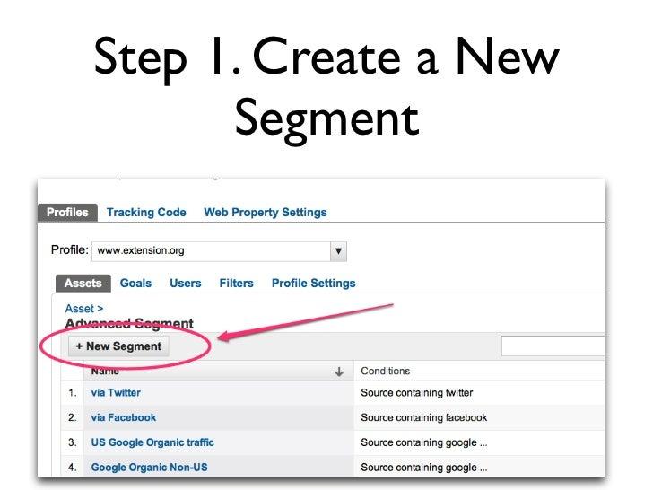 Step 2. Define the Segment