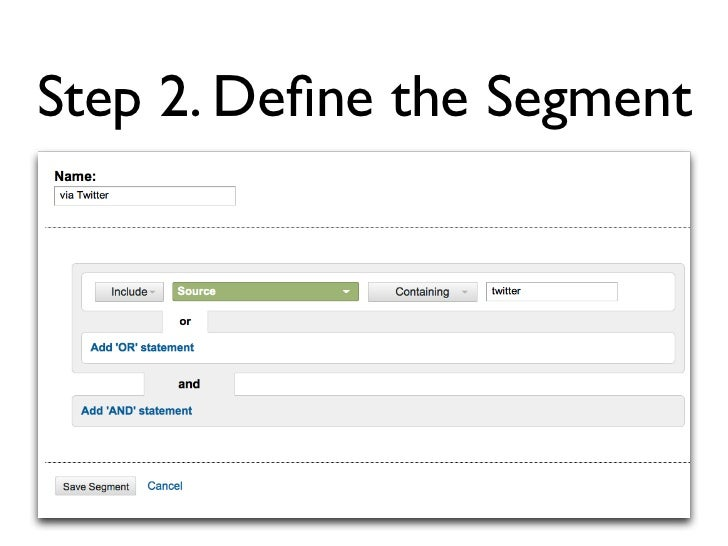Step 3. Apply Segment