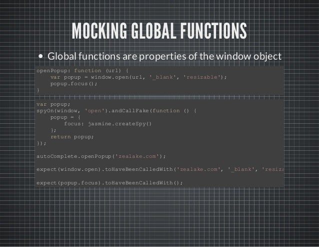 Advanced Jasmine - Front-End JavaScript Unit Testing