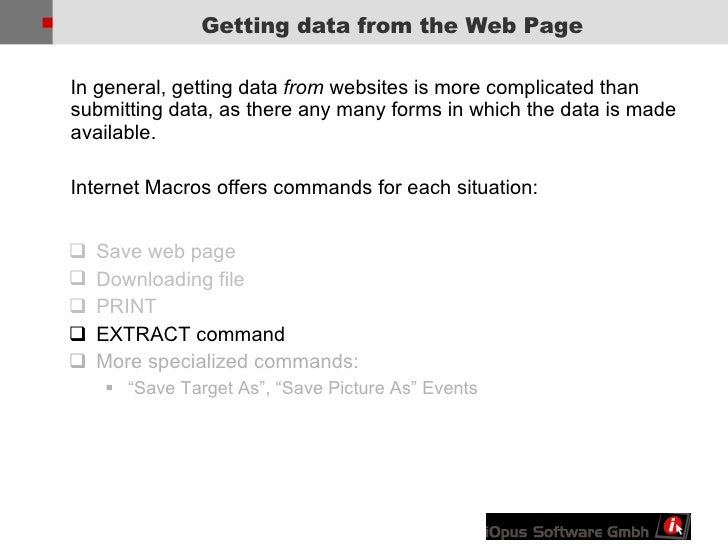 Web Page Automation